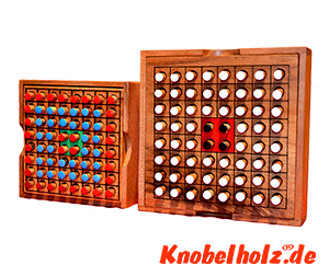 Othello Obversi large Strategiespiel das Beste Strategie Spiel für 2 Spieler aus Holz in den Maßen 13,5 x 13,5 x 3,2 cm, othello logic samanea wooden game
