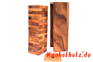 Wobbly L Game Tower Wackelturm large Stapelturm ein Spielspass für die ganze Familie in den Maßen 30,0 x 9,5 x 8,5 cm, block builder large tower samanea wooden game