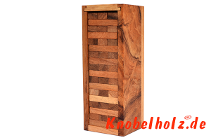 Wobbly XS Tower Game Wackelturm ein Spielspass aus Holz für die ganze Familie in den Maßen 16,3 x 6,3 x 5,3 cm,  mini tower samanea wooden game