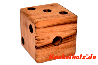 Magic Dice Wooden Cube Labyrinth  Puzzle 3D Holzpuzzle, Wooden IQ Game, Geduld Puzzle, Denkspiel in den Maßen 6,3 x 6,3 x 6,3 cm, samanea brain teaser