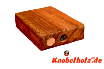 Lost Marble Puzzle Box, Kugel Save Box Holzpuzzle, Puzzle 2D, Wooden IQ Game, Geduld Puzzle, Denkspiel in den Maßen 9,0 x 7,0 x 2,0 cm, samanea brain teaser
