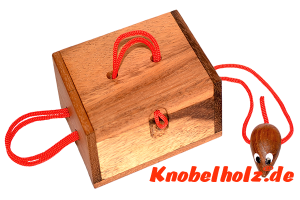 Mausefalle Secret Ring Box Schnur Puzzle Mouse Save Geschenk Box Secret Box Puzzle mit den Maßen 14,2 x 10,4 x 4,3 cm samanea wooden brain teaser