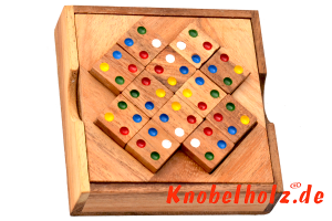Colour Match Box large das Farbpuzzle Dominotriangle mit farbigen Punkten