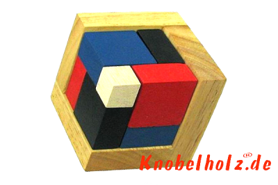 Die 4 D Puzzle Box von knobelholz ist was für thinking out of the box brain teaser
