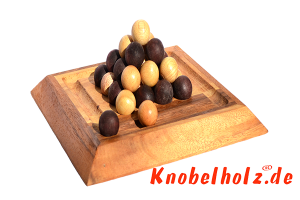 Last Ball Pharao Pylos Pyramiden Strategie Spielbrett 2 Spieler in Maßen 23,5 x 23,5 x 3,0 cm, last ball strategy samanea wooden game