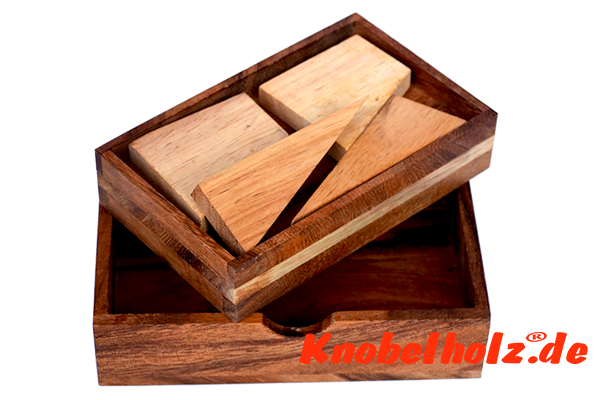 Square Puzzle Box Holzpuzzle